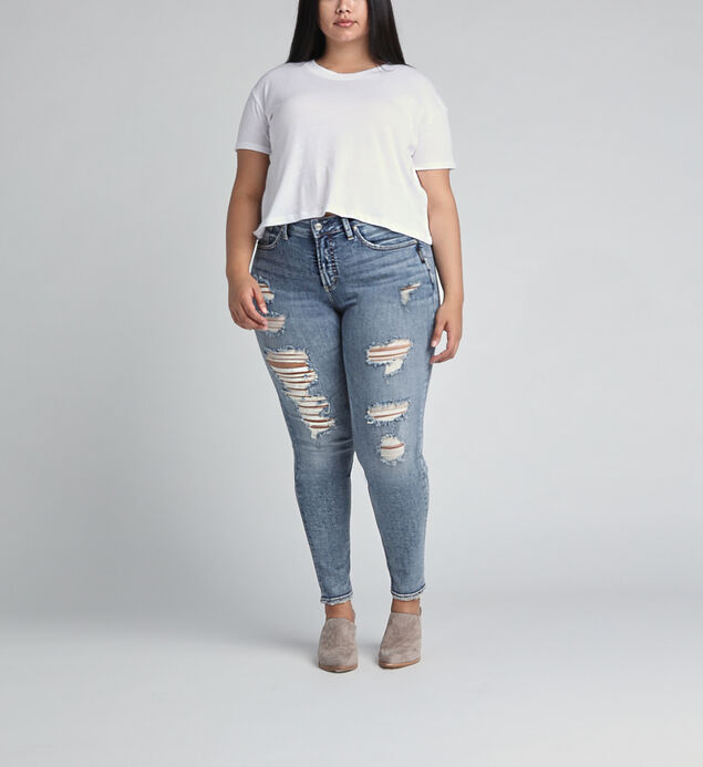 Avery High Rise Skinny Leg Jeans Plus Size