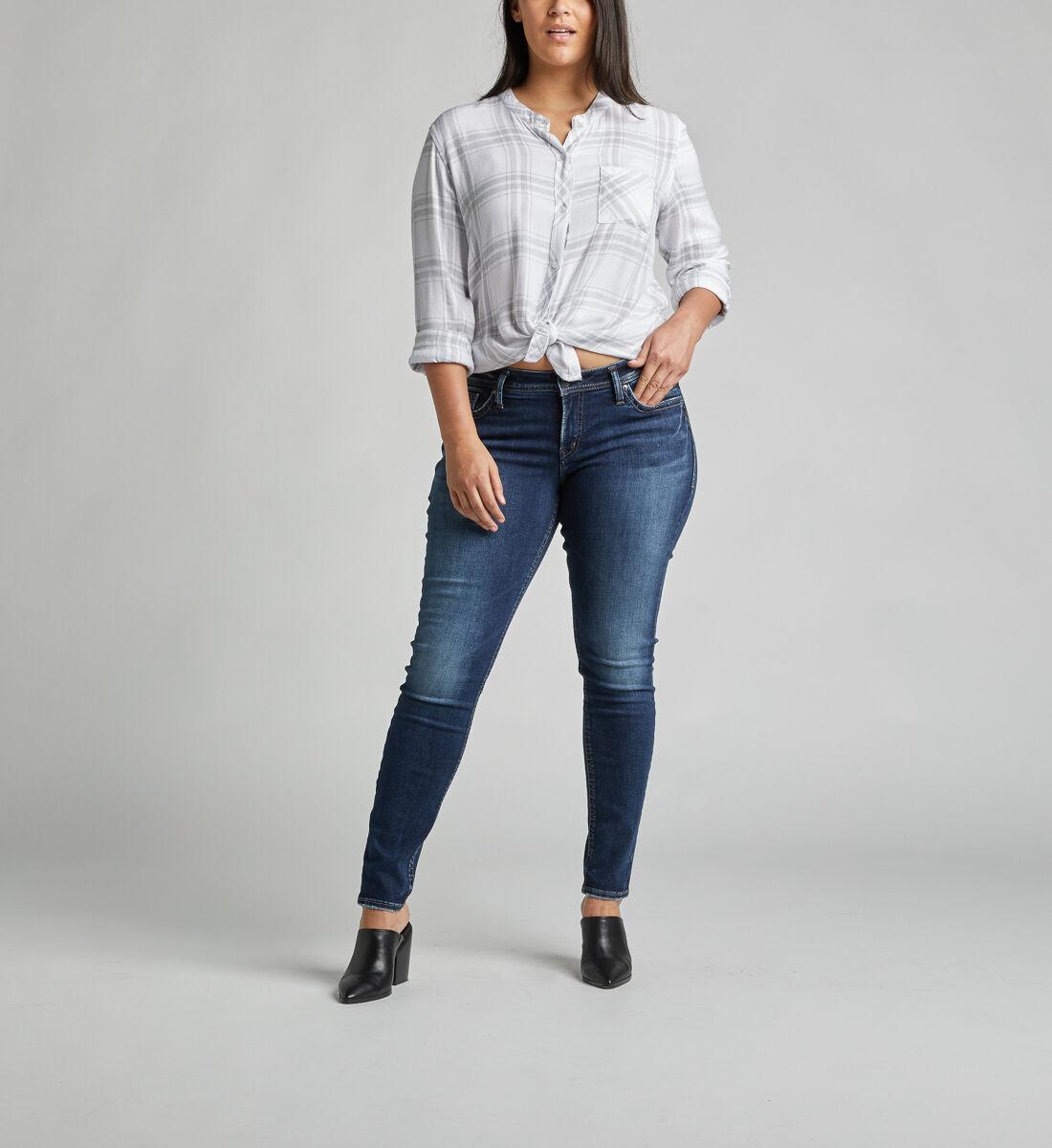 Suki Mid Rise Super Skinny Jeans Plus Size Alt Image 1
