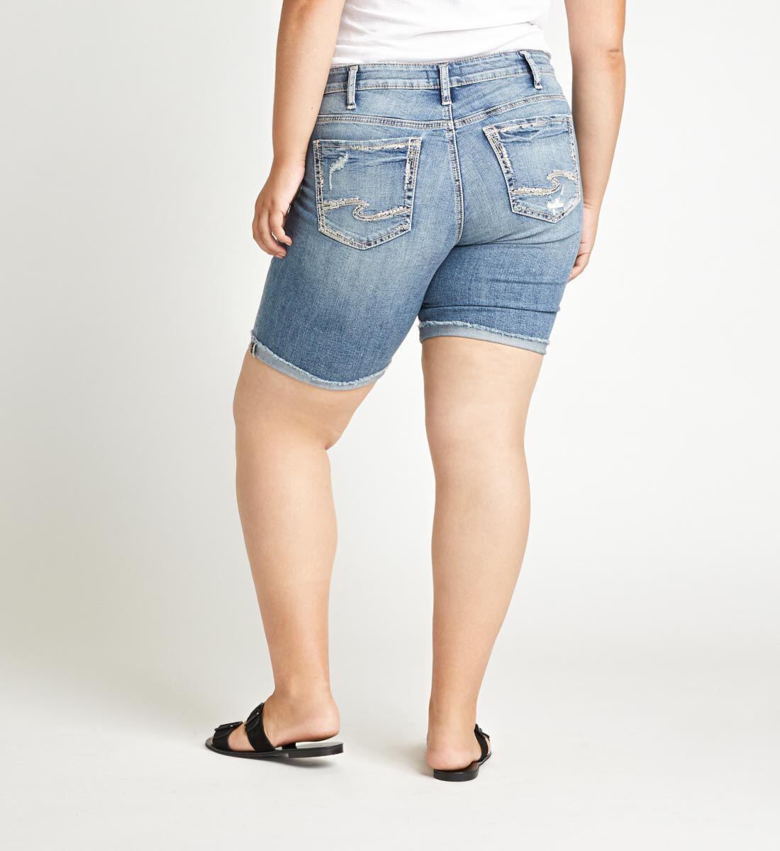 Suki Mid Rise Bermuda Short Plus Size Back