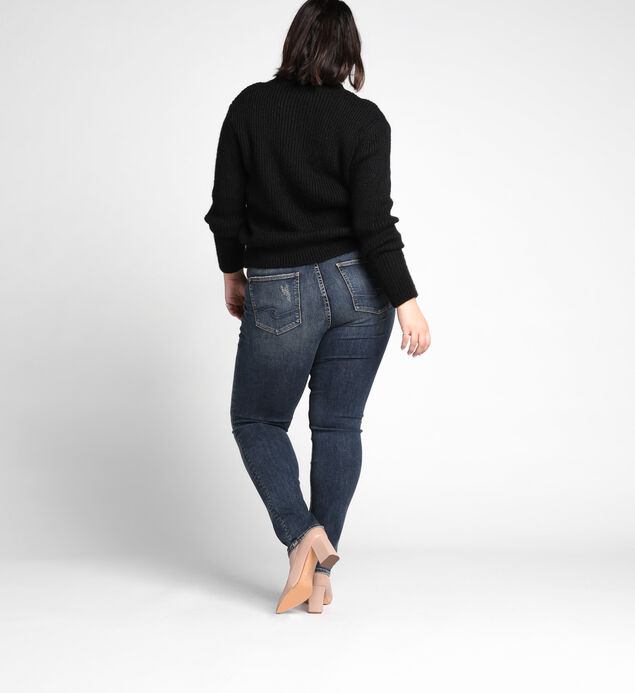 Avery Plus Size Slim Leg Medium Wash, , hi-res