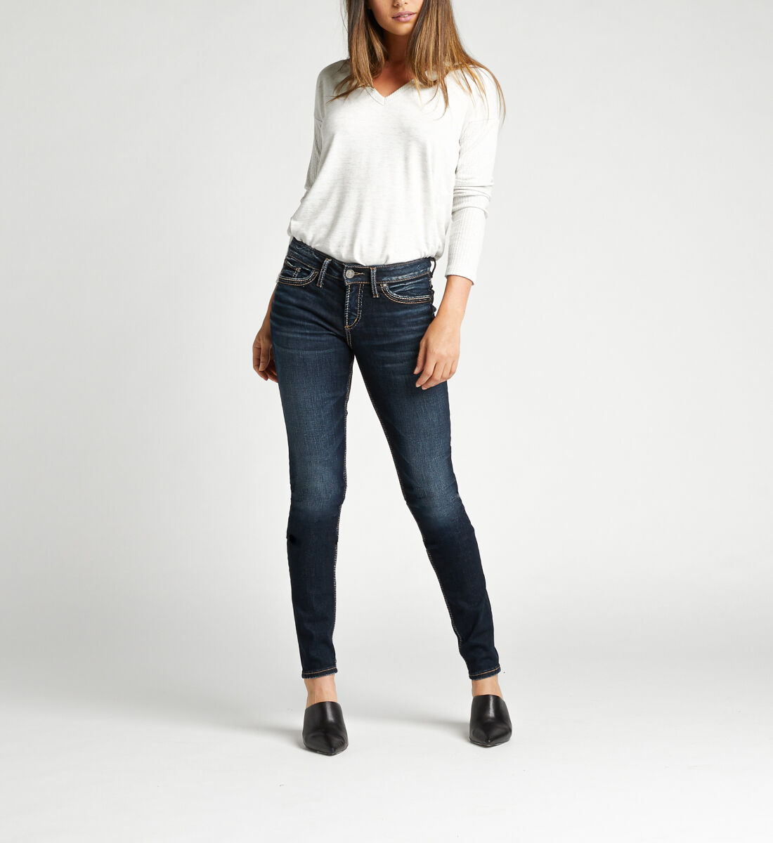Suki Mid Rise Skinny Jeans Alt Image 1