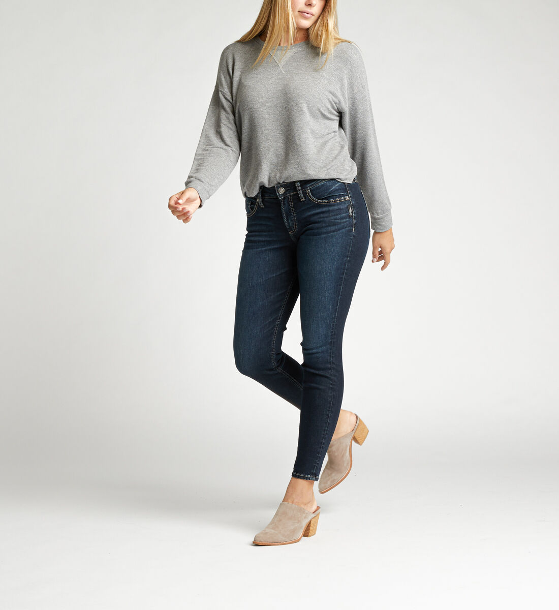 Avery High Rise Skinny Jeans Alt Image 1
