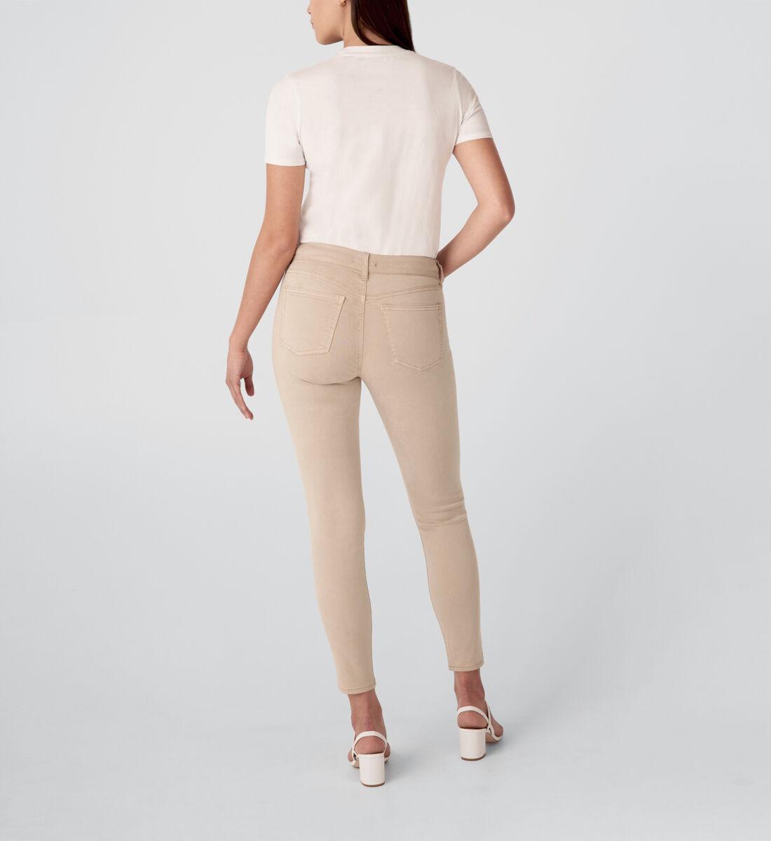 Suki Mid Rise Skinny Jeans,Tan Back