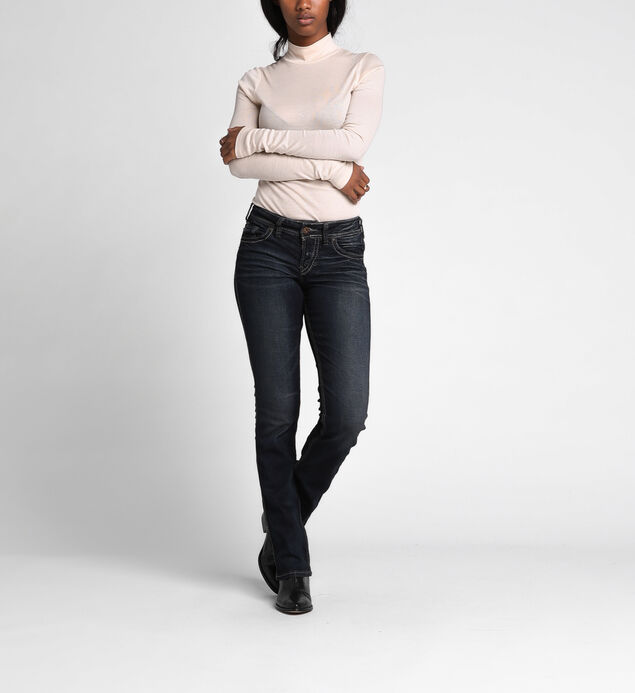 Suki Curvy Mid-Rise Slim Bootcut Jeans