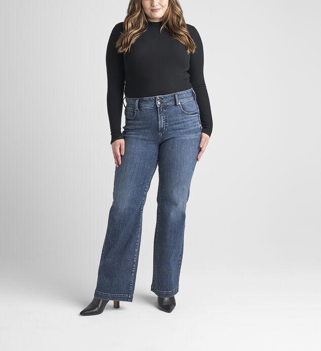 Avery High Rise Trouser Leg Jeans Plus Size