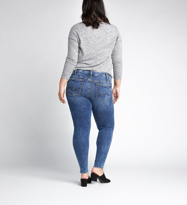 Elyse Mid Rise Skinny Leg Jeans Plus Size, Indigo, hi-res