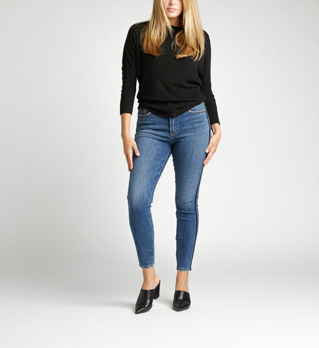 Calley Super High Rise Skinny Jeans Front
