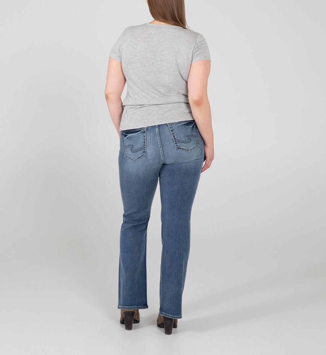 Suki Mid Rise Bootcut Jeans Plus Size Back