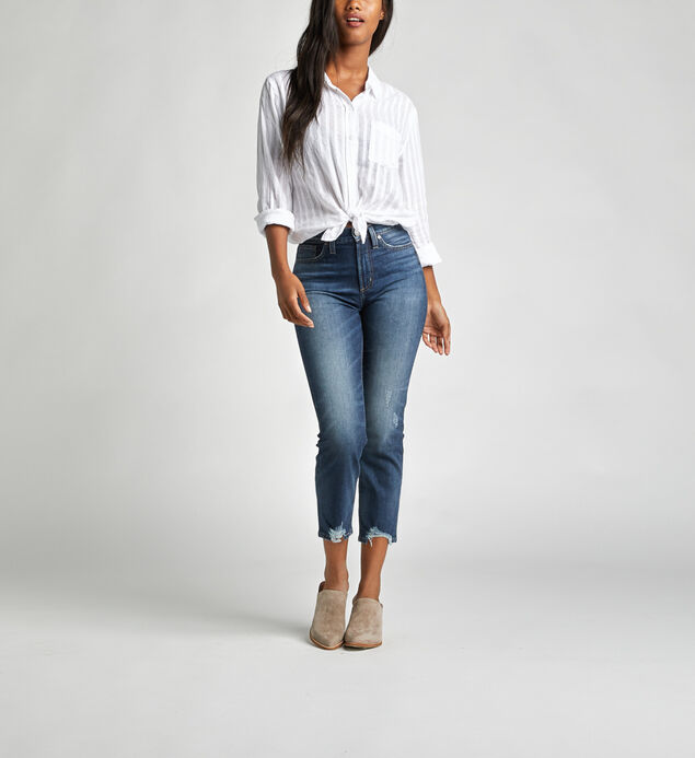 Calley Super High Rise Slim Crop Jeans