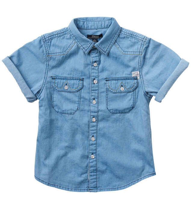 Short-Sleeve Denim Shirt (7-16)