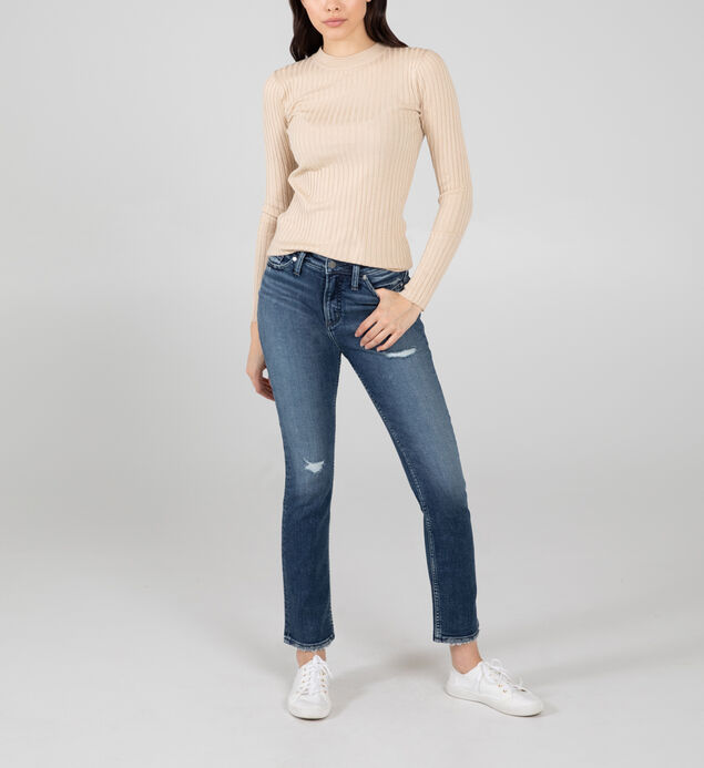 High Note High Rise Straight Leg Jeans