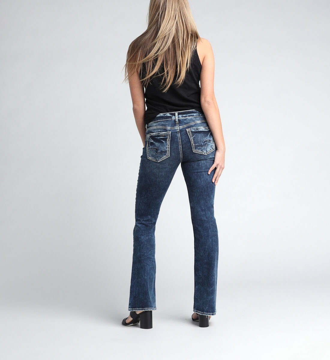 Elyse Mid Rise Bootcut Jeans Back