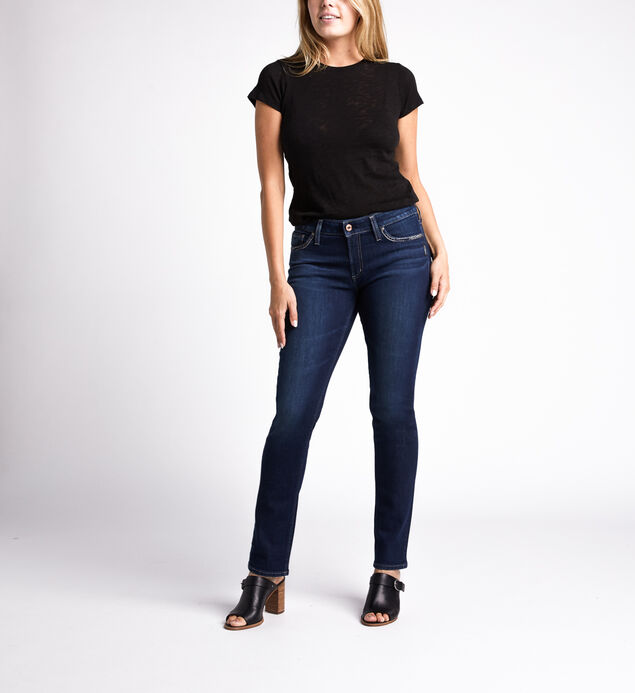 Elyse Mid Rise Straight Jeans