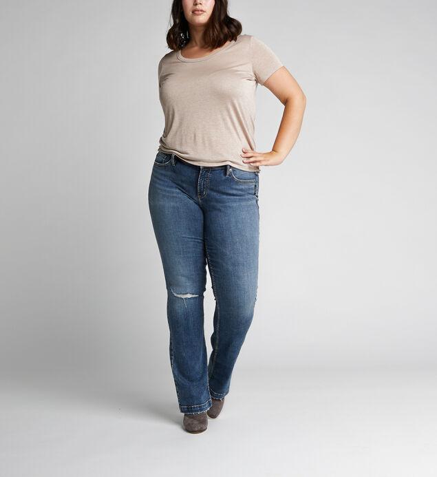 cf410ba6ad3fc ... Elyse Mid Rise Slim Bootcut Jeans Plus Size