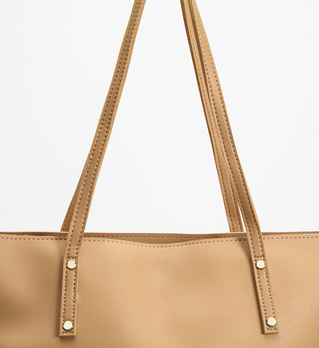 Large Divided Tote Bag, Beige, hi-res