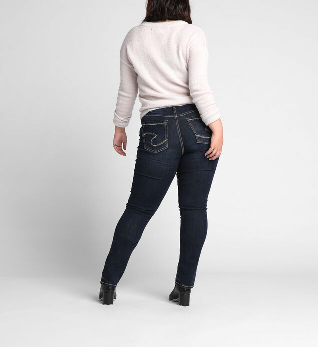Avery Plus Size Straight Dark Wash, , hi-res