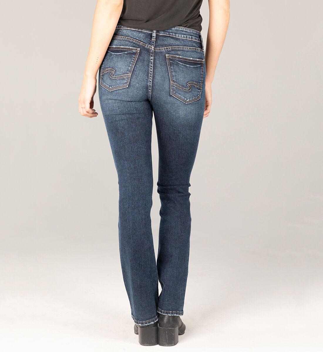 Elyse Mid Rise Slim Bootcut Jeans Back