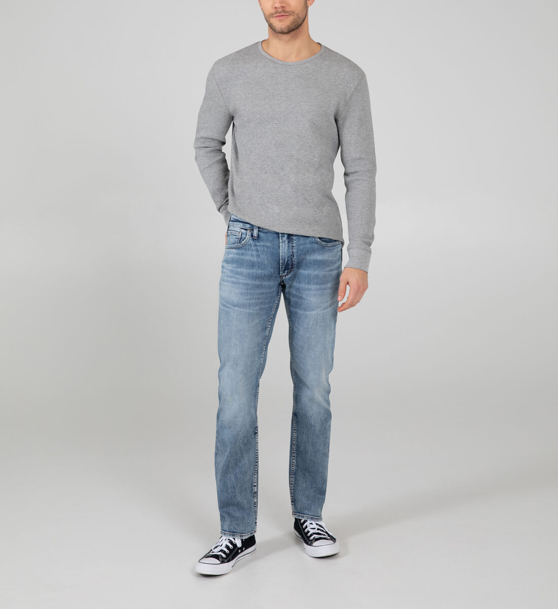 Allan Classic Fit Straight Leg Jeans Front