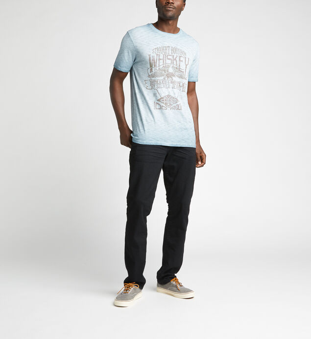 Duncan Short-Sleeve Slub Graphic Tee, Blue, hi-res