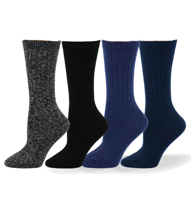 Ribbed Mid-Calf Womens Socks