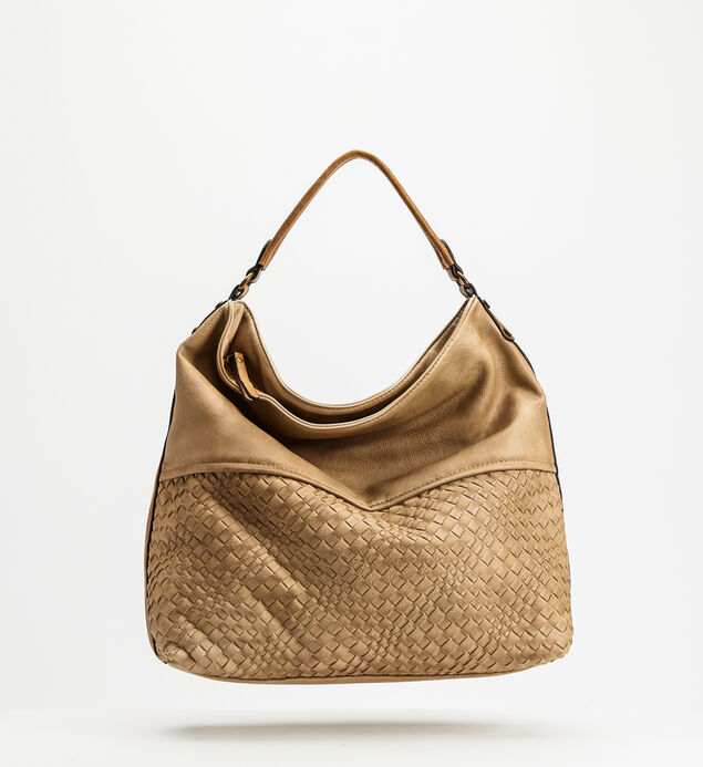 Top-Zip Textured Hobo, , hi-res
