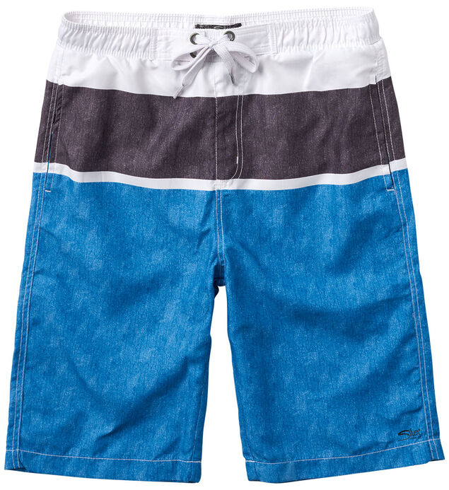 Blue Striped Swim Trunks (4-7)