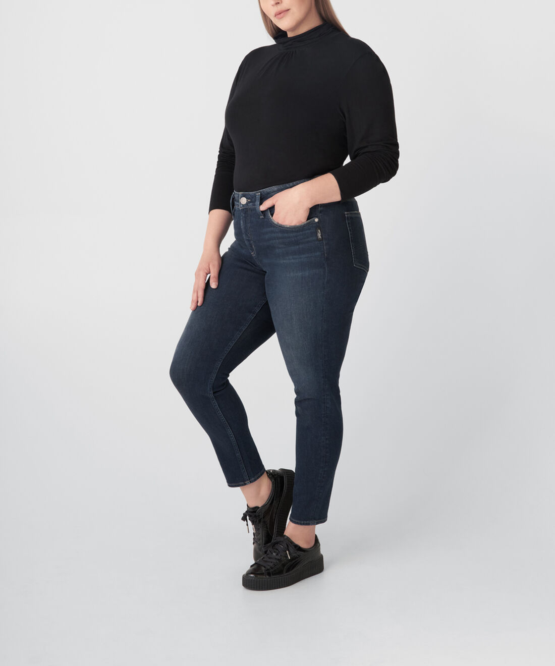 Avery High Rise Skinny Jeans Plus Size Side