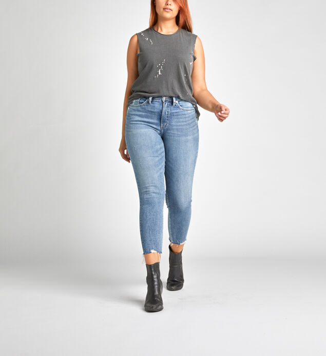 Calley Super High Rise Skinny Crop Jeans