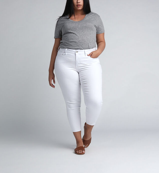 Suki Mid Rise Skinny Crop Pants Plus Size