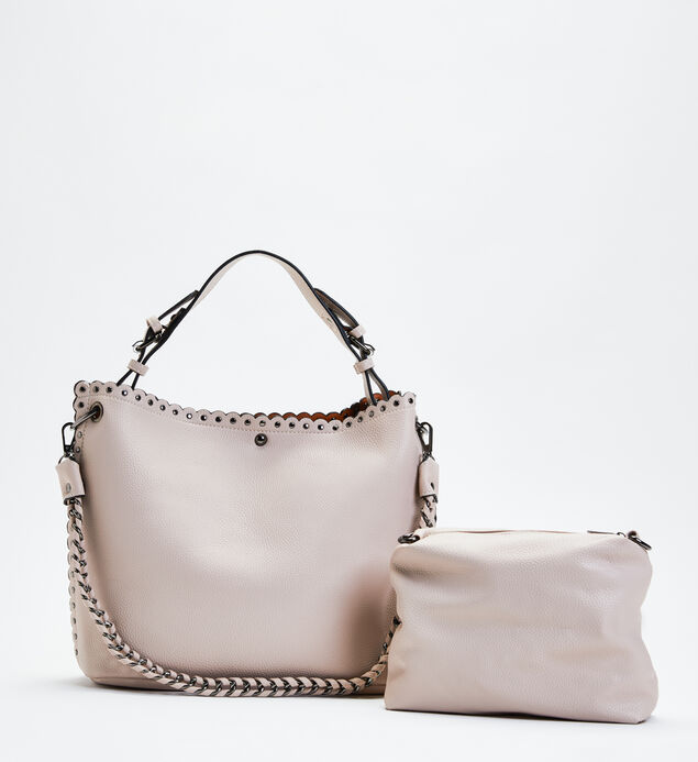 Studded Shoulder Bag with Pouch, , hi-res