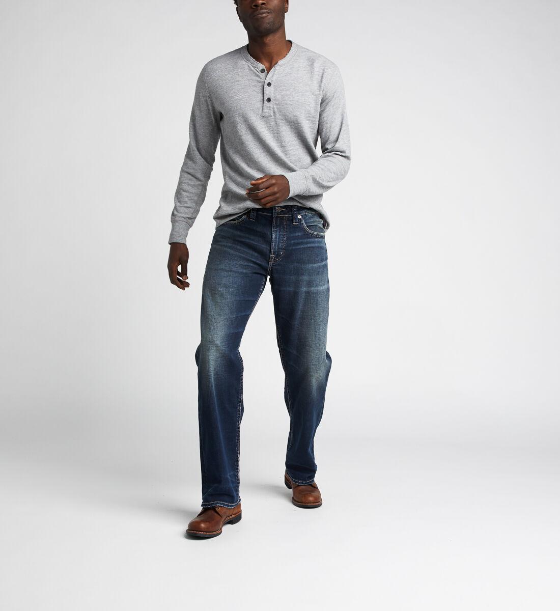 Gordie Loose Fit Straight Jeans,Indigo Alt Image 1