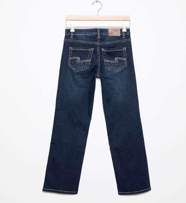 Garrett Loose-Fit Jeans in Dark Wash (4-7), , hi-res