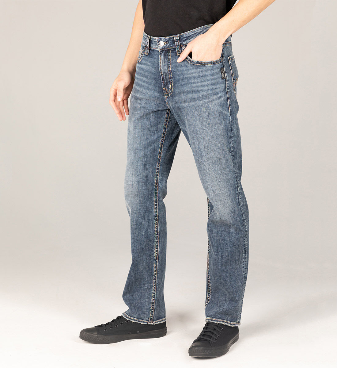 Grayson Easy Fit Straight Leg Jeans Big & Tall Side