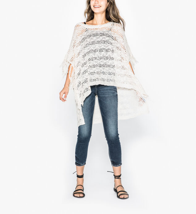Sierra - Poncho Sweater With Fringe