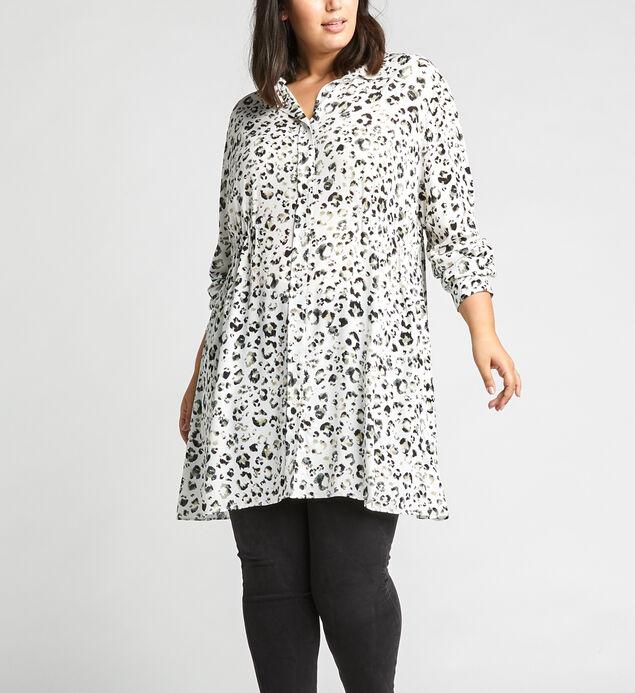 Saffi Leopard-Print Tunic Shirt