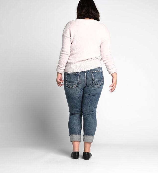Boyfriend Mid Rise Slim Leg Jeans Plus Size, , hi-res
