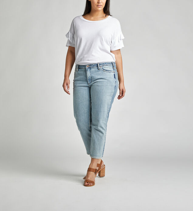 High Note High Rise Slim Crop Jeans Plus Size
