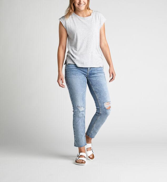 Avery High-Rise Curvy Slim Leg Jeans