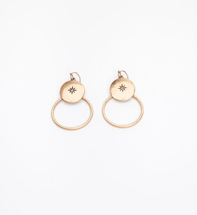 Silver-Tone Hoop Drop Earrings