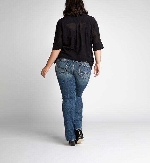 Elyse Mid Rise Slim Bootcut Jeans Plus Size, , hi-res