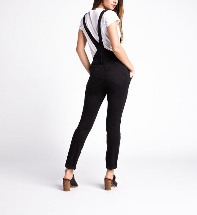 Overall Skinny Leg Jeans, Black, hi-res