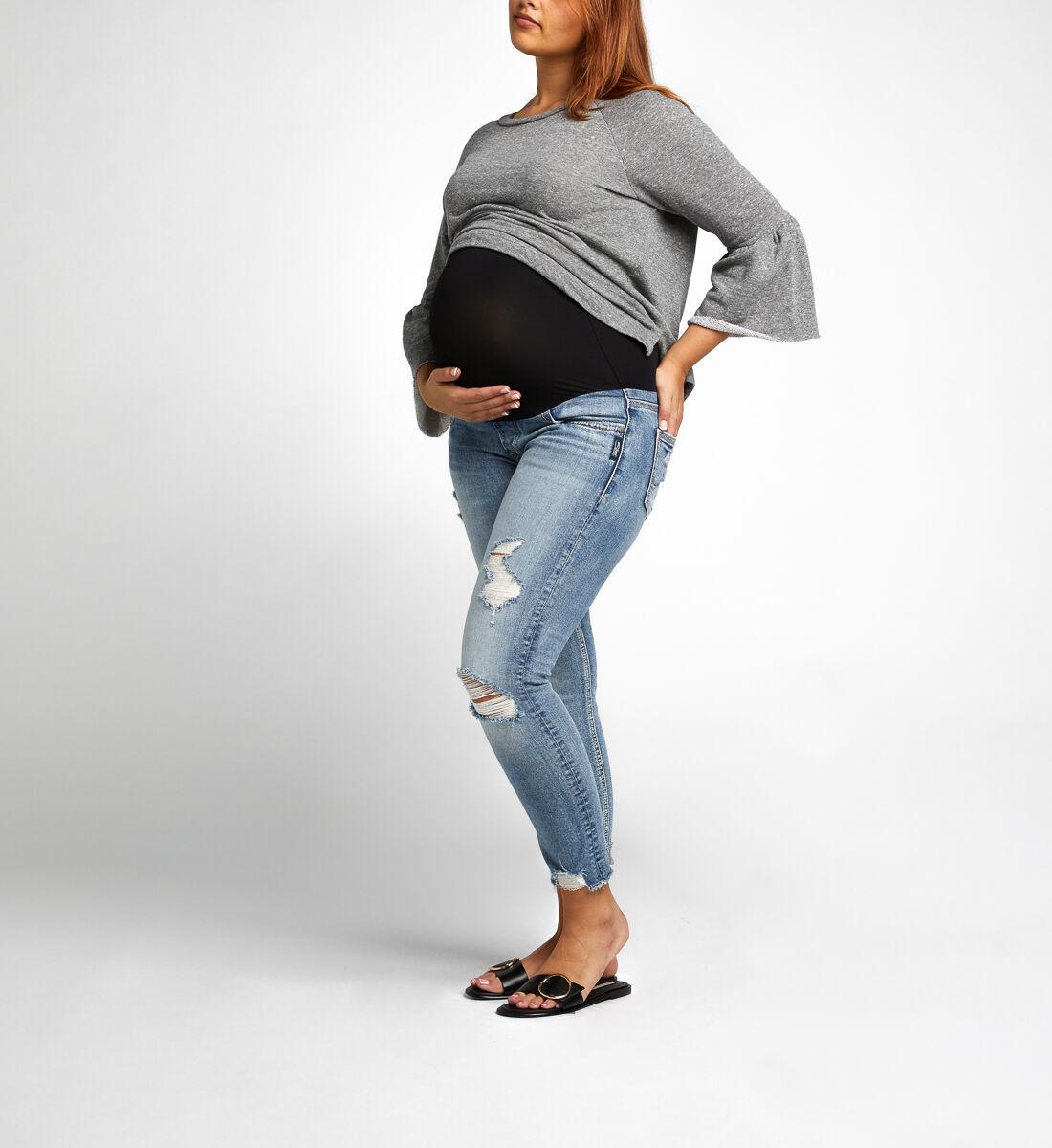 Suki Skinny Crop Maternity Jeans Alt Image 2