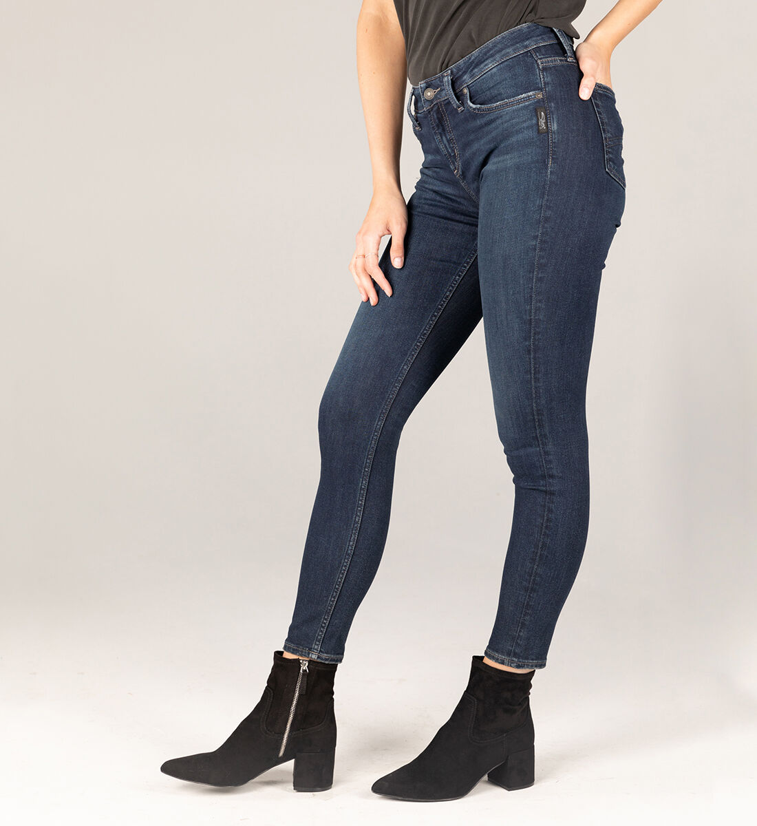 Avery High Rise Skinny Jeans Side