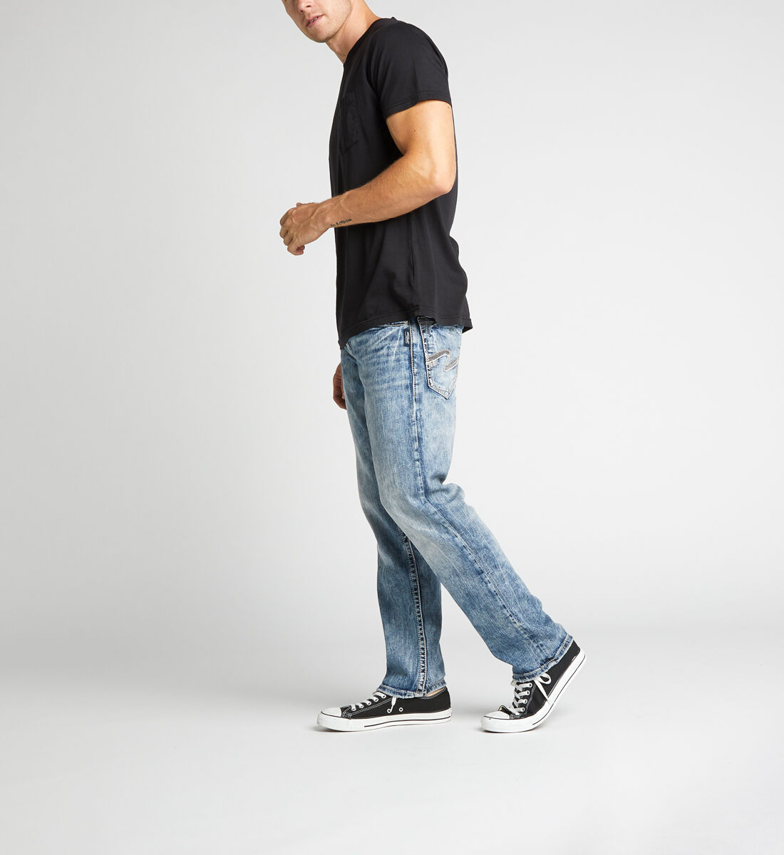 Eddie Relaxed Fit Tapered Leg Jeans Side