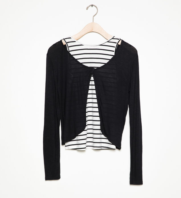 Long-Sleeve Layered Top (4-7)