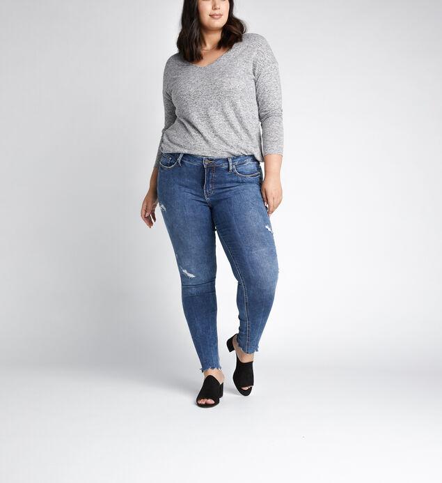 Elyse Mid Rise Skinny Leg Jeans Plus Size