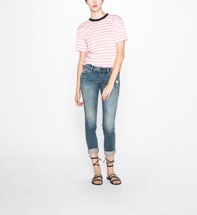 Sam Boyfriend Mid Rise Slim Leg Jeans