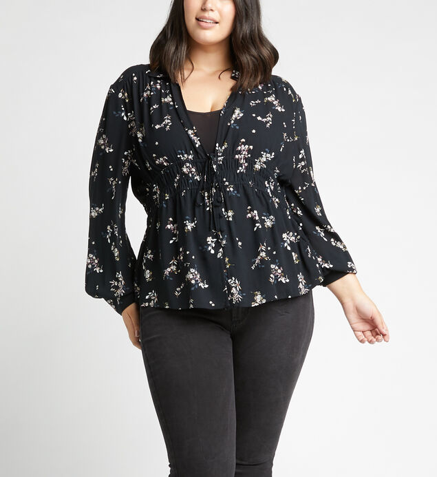 Seleste Cinch-Waist Floral Top Plus Size
