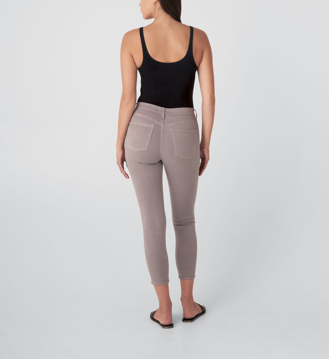 Most Wanted Mid Rise Skinny Jeans,Grey Back