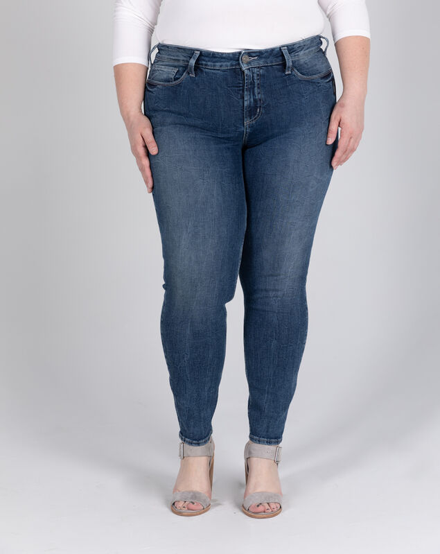 Elyse Mid Rise Skinny Jeans Plus Size